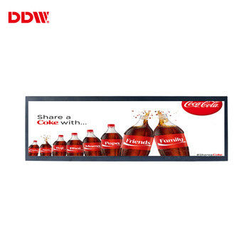 37.2 inch Stretched Bar LCD Advertising Player 700 Nits Brightness Ultra Wide Screen For Shelf Display DDW-ADS-372