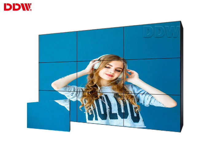 Factory price ultra narrow bezel 55 inch LCD video wall with 3x3 video wall controller