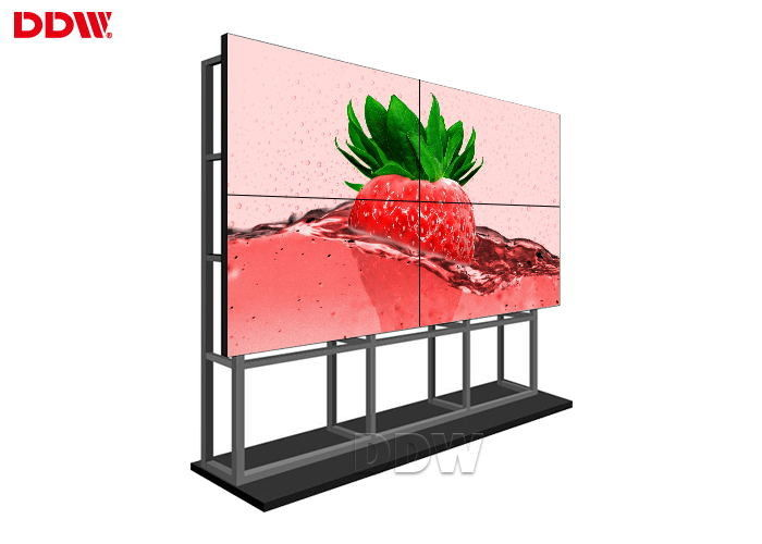Cutomized best selling lcd video wall with 3x3 video wall controller,wall mount rack,HD splitter